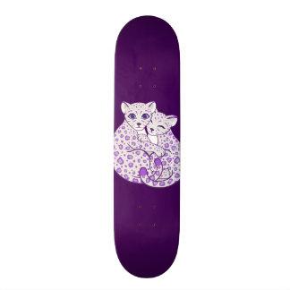 Snow Leopard Cubs Cuddling Art Skateboard