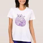 Snow Leopard Cubs Cuddling Art T-Shirt