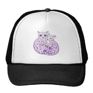 Snow Leopard Cubs Cuddling Art Trucker Hat