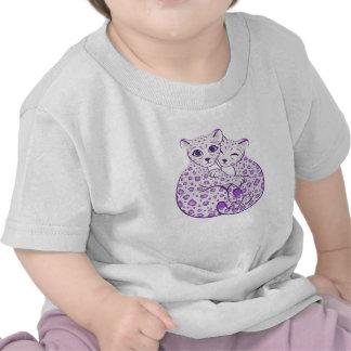 Snow Leopard Cubs Cuddling Art T Shirt