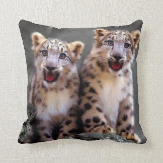 Snow Leopard Cubs Pillows