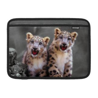 Snow Leopard Cubs Sleeve For MacBook Air