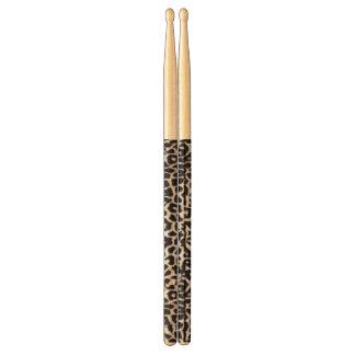 Snow Leopard Custom Animal Print Drumsticks Drumsticks