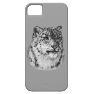 Snow Leopard Drawing iPhone SE/5/5s Case
