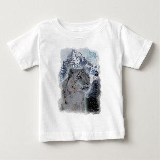 SNOW LEOPARD Endangered Species of Big Cat Baby T-Shirt