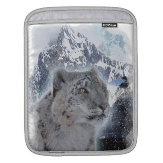 SNOW LEOPARD Endangered Species of Big Cat iPad Sleeve