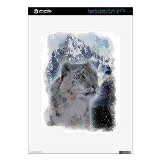 SNOW LEOPARD Endangered Species of Big Cat Skin For iPad 3