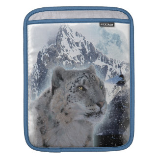 SNOW LEOPARD Endangered Species of Big Cat Sleeve For iPads