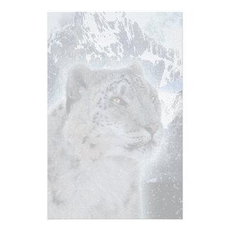 SNOW LEOPARD Endangered Species of Big Cat Stationery