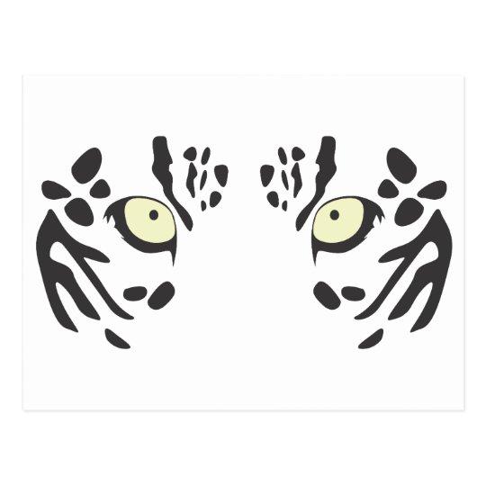 Snow Leopard Eyes Postcard