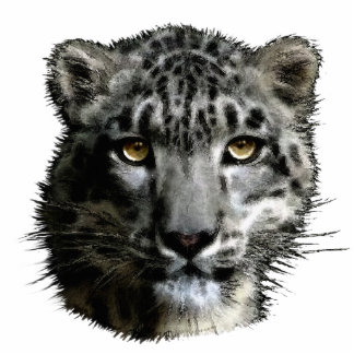 SNOW LEOPARD EYES sculpted Wildlife Gift Acrylic Cut Out