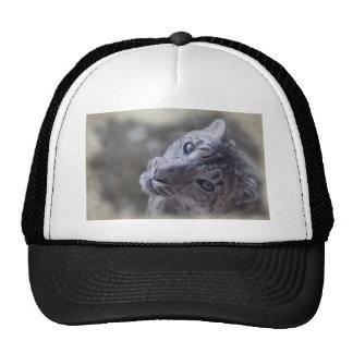 snow leopard face. mesh hat