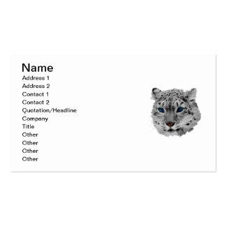 Snow Leopard Fractal Business Card