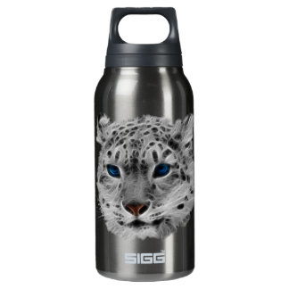 Snow Leopard Fractal Insulated Water Bottle