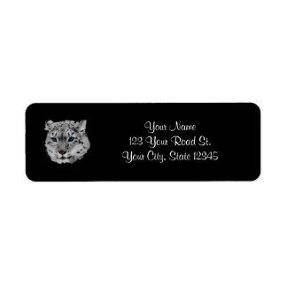 Snow Leopard Fractal Labels