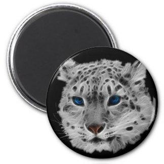 Snow Leopard Fractal Magnet