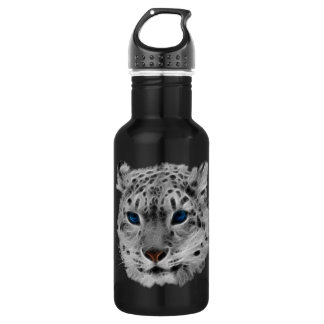 Snow Leopard Fractal Stainless Steel Water Bottle