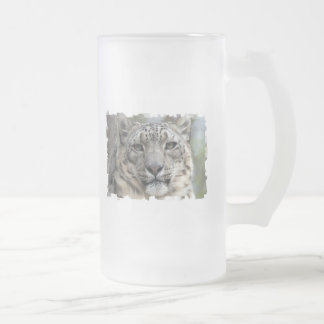 Snow Leopard Frosted Beer Mug
