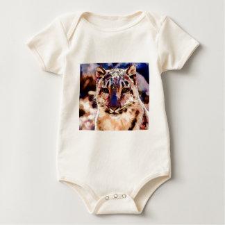 Snow Leopard Fun Baby Bodysuit