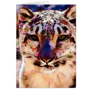 Snow Leopard Fun Card