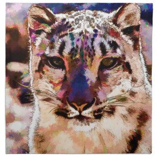 Snow Leopard Fun Cloth Napkin