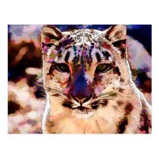 Snow Leopard Fun Postcard