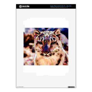 Snow Leopard Fun iPad 3 Decals