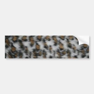 Snow Leopard Fur Bumper Sticker