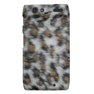 Snow Leopard Fur Motorola Droid RAZR Case