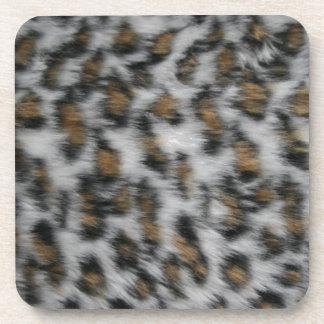 Snow Leopard Fur Coaster