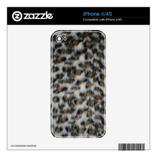 Snow Leopard Fur Decals For The iPhone 4S