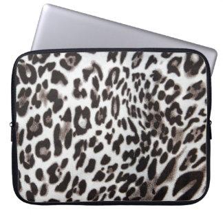 Snow Leopard Fur Laptop Computer Sleeve