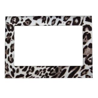 Snow Leopard Fur Magnetic Picture Frame