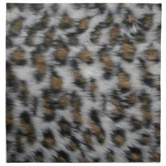 Snow Leopard Fur Napkin