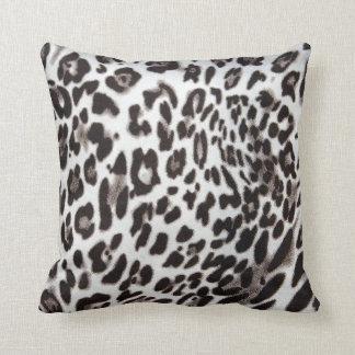 Snow Leopard Fur Throw Pillow