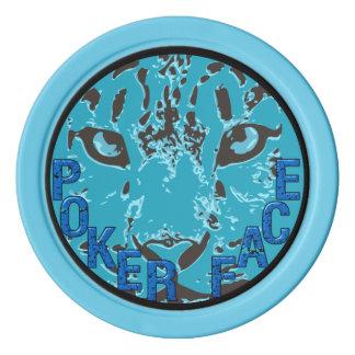 Snow Leopard Glare Poker Chip Poker Chip Set