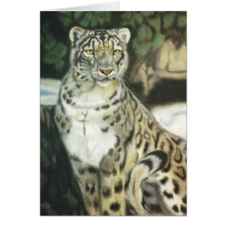 """Snow Leopard"" Greeting Card"