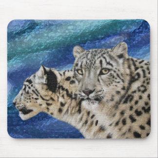 Snow Leopard Habitat Mousepad