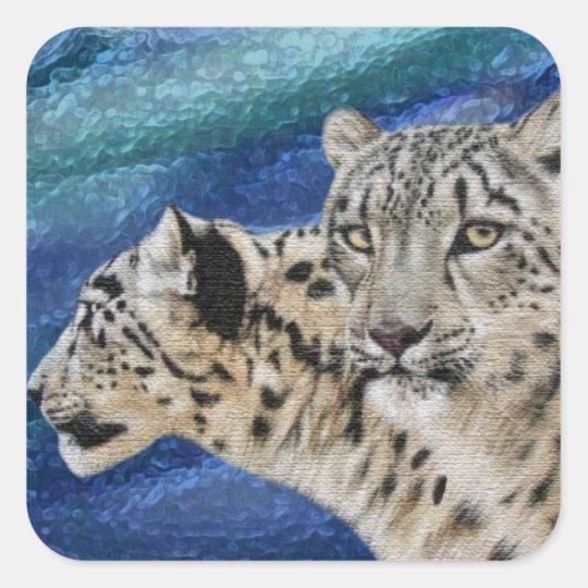 Snow Leopard Habitat Stickers