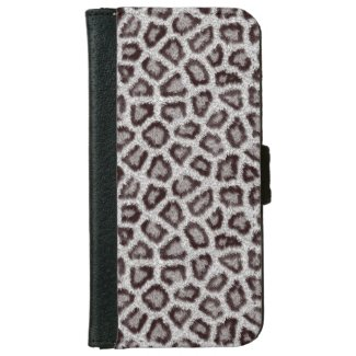Snow Leopard iPhone 6 Wallet Case