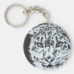 Snow Leopard Keychains