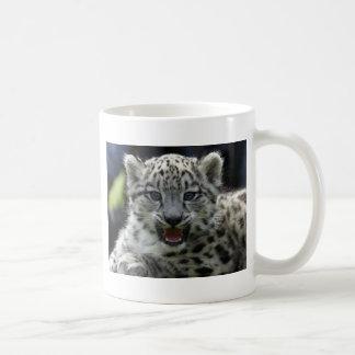 Snow Leopard Kitten Coffee Mug
