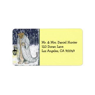 Snow Leopard Custom Address Label