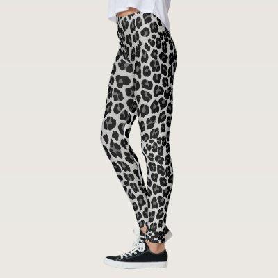6c21441a5c66b Black Panther Leopard Print, Black And Charcoal Leggings | Zazzle.com