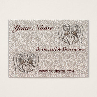 Snow Leopard Lily Business Card