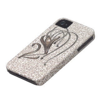 Snow Leopard Lily iPhone 4 Case