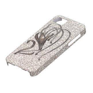 Snow Leopard Lily iPhone SE/5/5s Case