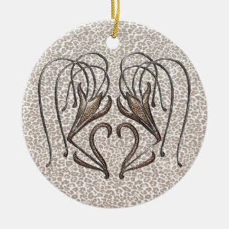 Snow Leopard Lily Ornaments