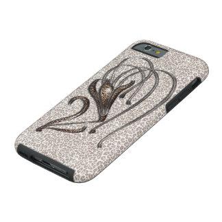 Snow Leopard Lily Tough iPhone 6 Case