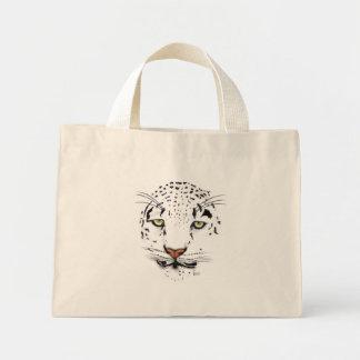 Snow Leopard Mini Tote Bag